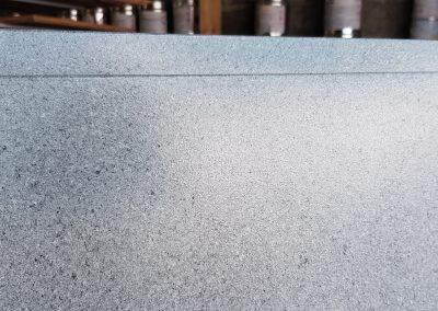 Kitchen doors sprayed in Stone Fleck