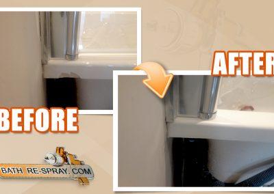 Bath panel repair