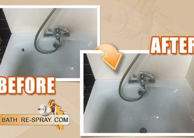 Bath respray chip repair