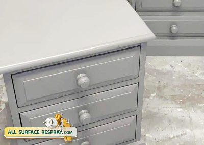 Respray bedside lockers