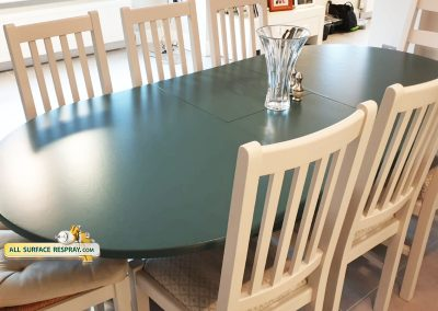 Table and chairs respray