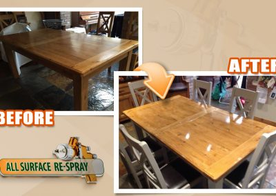 Table and chairs restoration