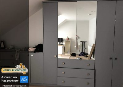 Wardrobes sprayed Grey