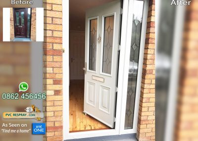 All surface Respray pvc door RAL 7038