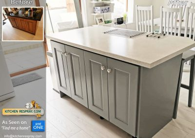 Kitchen Island Respray Dove grey