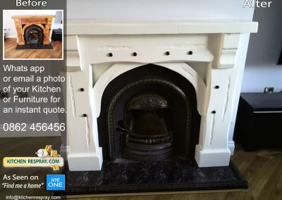 Respray fireplace