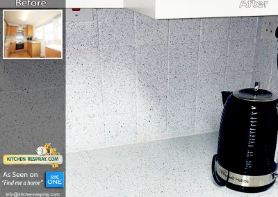 Respraying wall Tiles