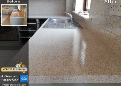 Granite Respray worktop