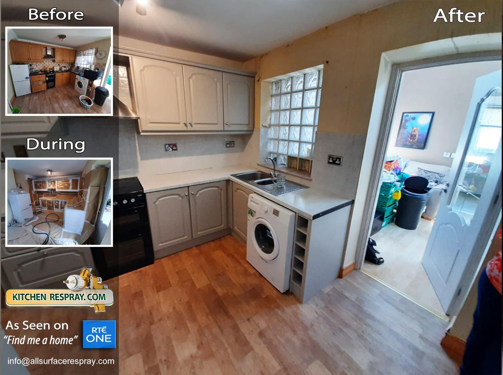 Kitchen Respray,Door Respray,Cabinet Respray,White