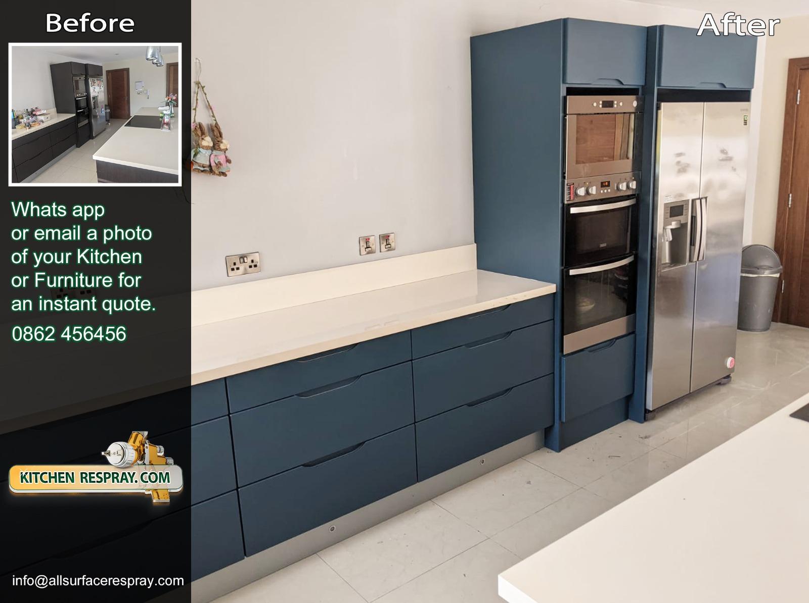Kitchen Respray,Door Respray,Dark Color,Bray,Ireland