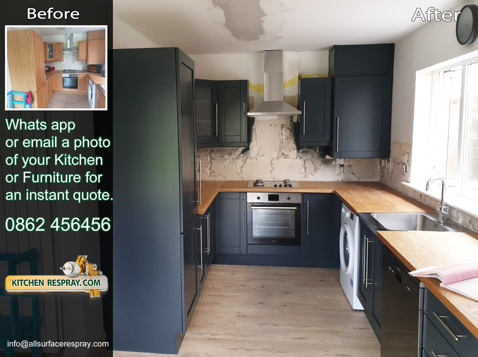 Kitchen Respray,Door Respray,Bray,Ireland
