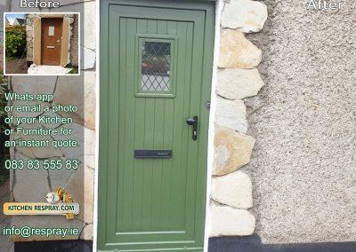 Kitchen Respray,door respray,PVC Green