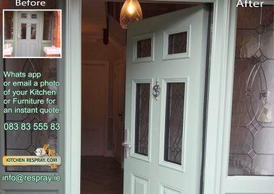 Kitchen Respray,door respray,PVC Chartwell Green