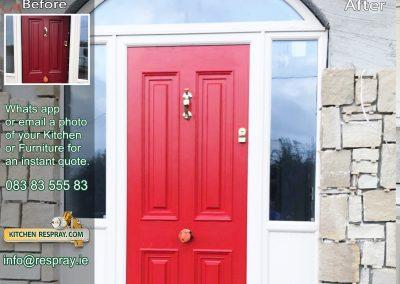 Kitchen Respray,door respray,PVC Red
