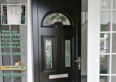 Kitchen Respray,door respray,PVC Respray Door ,Black