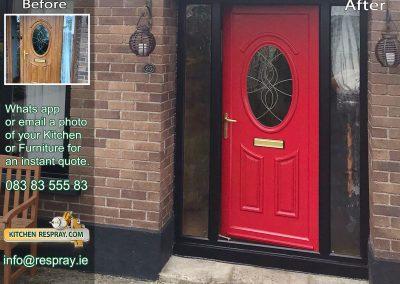Kitchen Respray,door respray,PVC Respray Door,Red