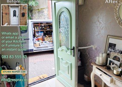 Kitchen Respray,door respray,Pvc Respray Green